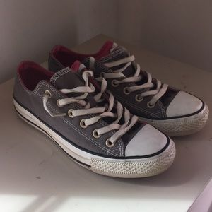 Converse all stars grey and pink size 8